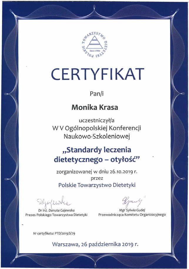 Dietozalezni_Standardy leczenia dietetycznego - otyłość